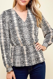 Yipsy Python Print Top - Product Mini Image