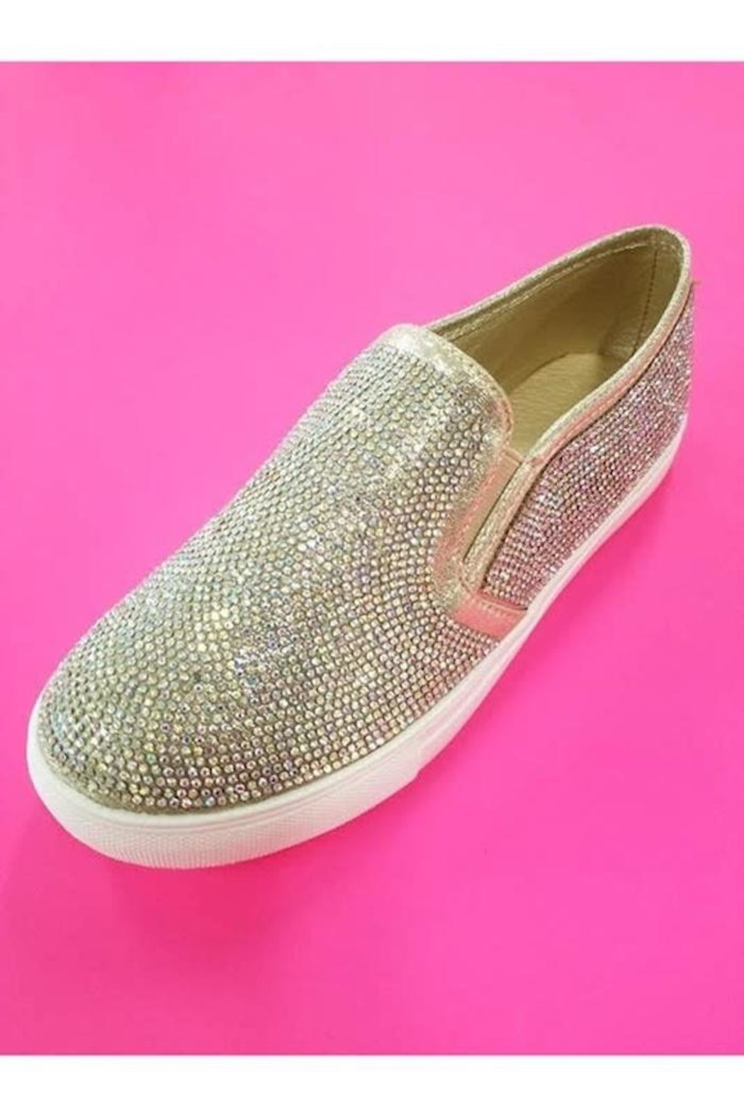 Yipsy Rhinestone Sneakers - Front Cropped Image