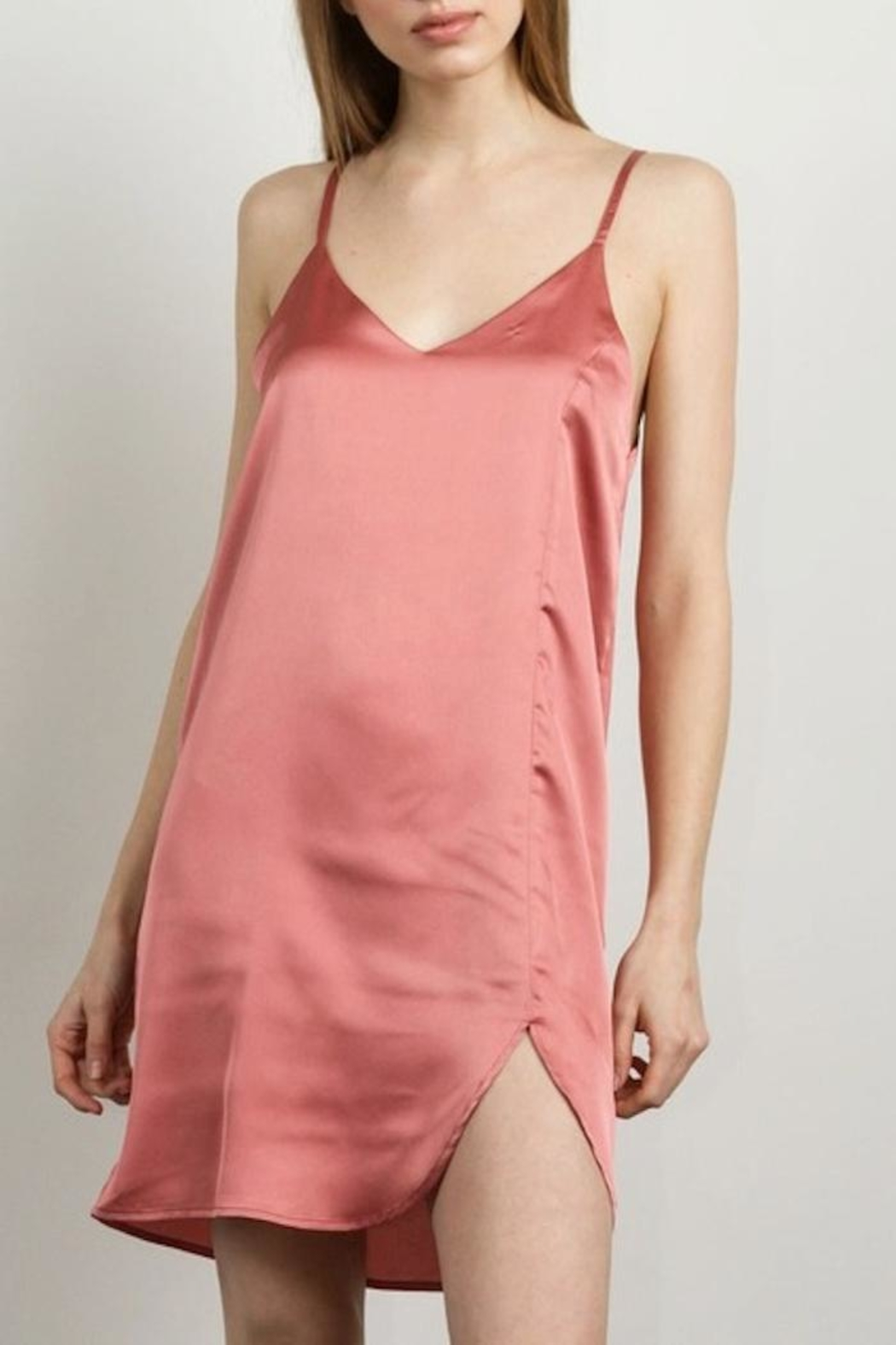Yipsy Satin Slip Dress - Front Cropped Image