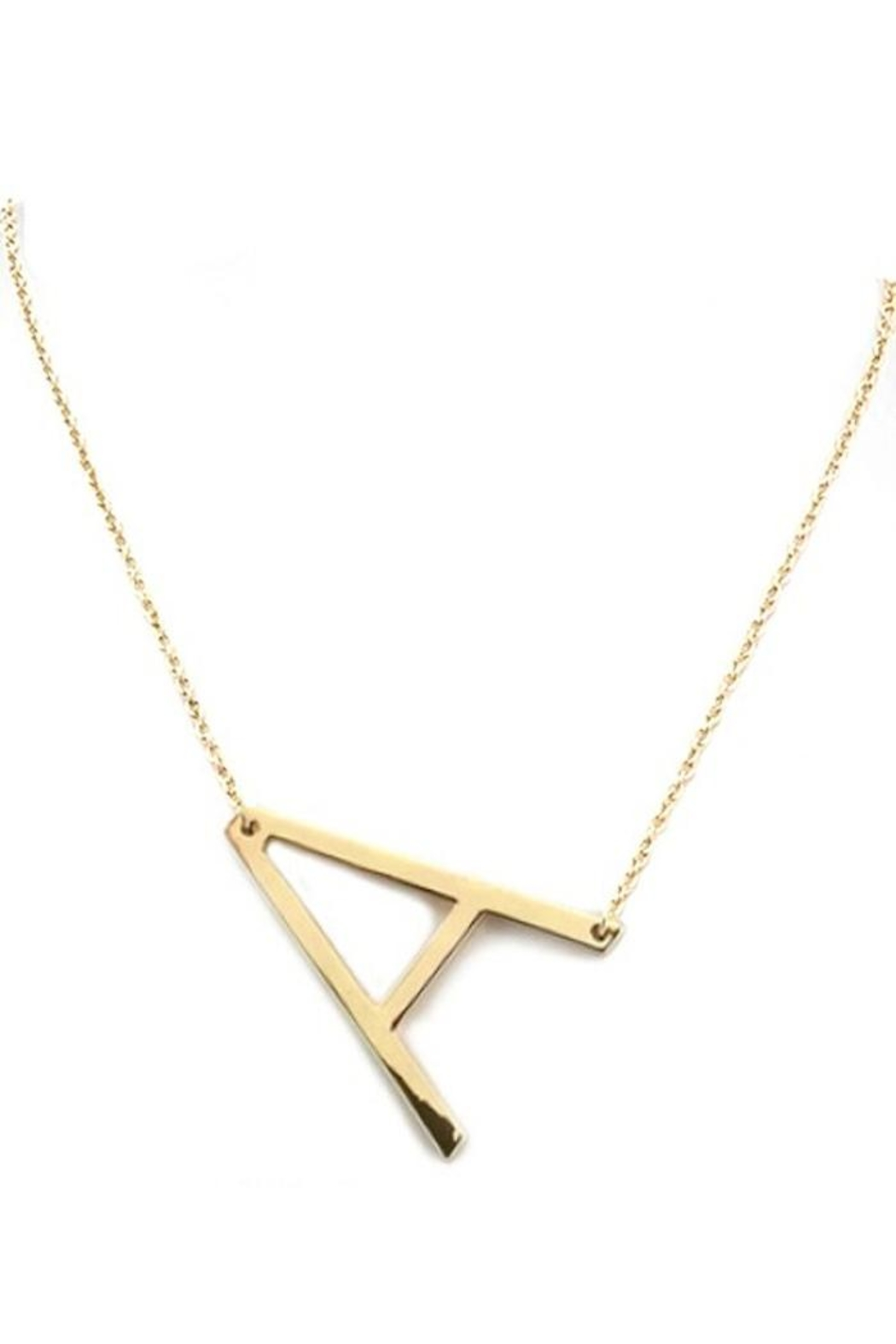 Yipsy Sideways Initial Necklace - Main Image