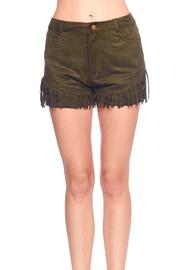Yipsy Suede Fringe Shorts - Product Mini Image