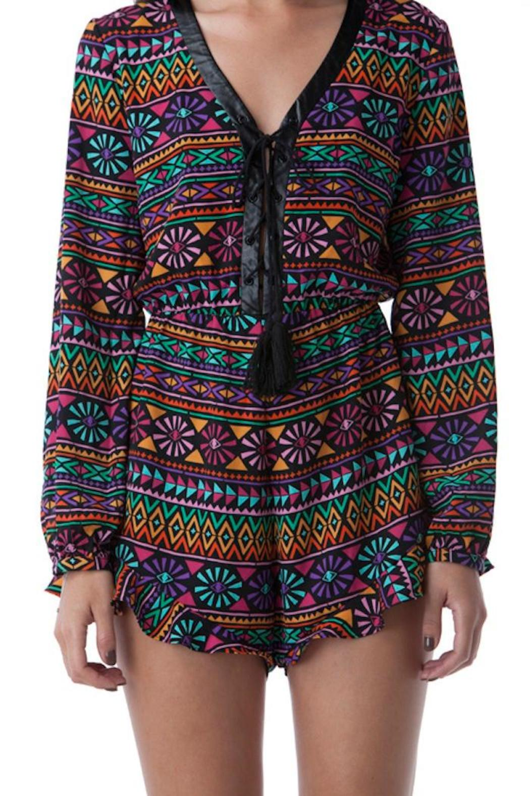 Yipsy Tribal Romper - Front Full Image