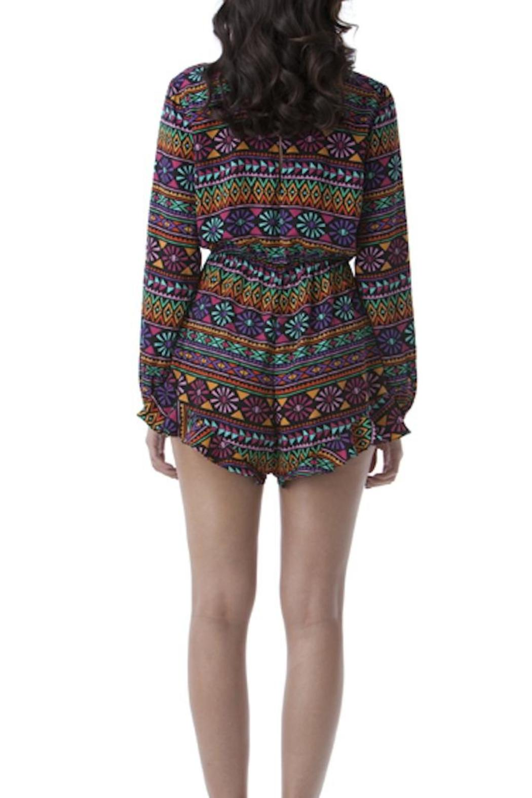 Yipsy Tribal Romper - Side Cropped Image