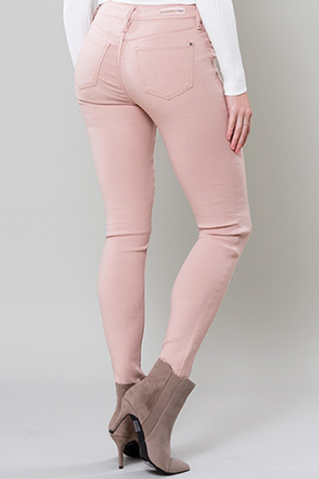 YMI Blush Hyperstretch Jeggings - Side Cropped Image