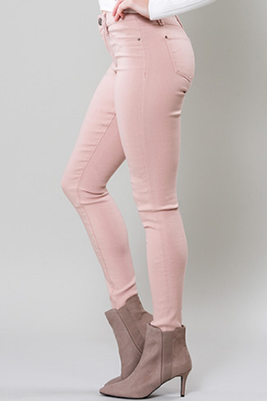 YMI Blush Hyperstretch Jeggings - Front Full Image