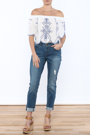 YMI Distressed Cuffed Jeans - Front full body