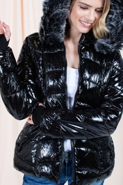 YMI Shiny Puffer Jacket - Front cropped