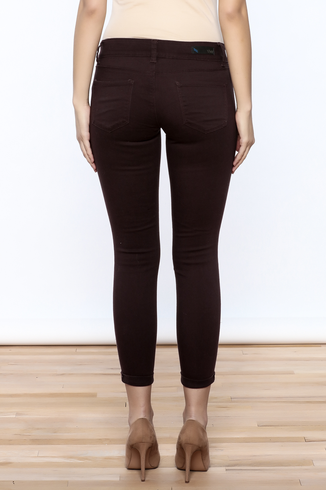 YMI Mulberry Skinny Jeans - Back Cropped Image