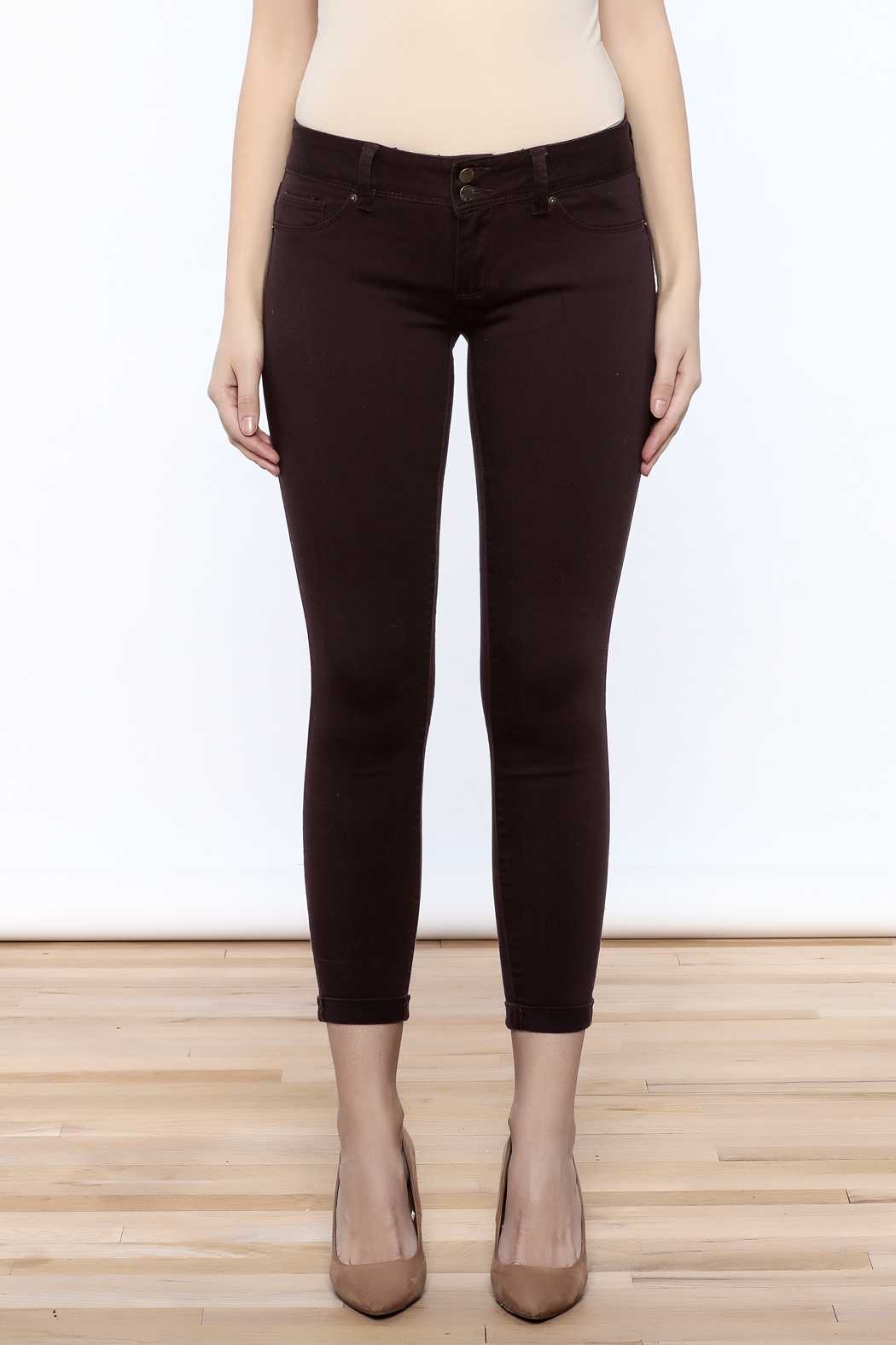 YMI Mulberry Skinny Jeans - Side Cropped Image
