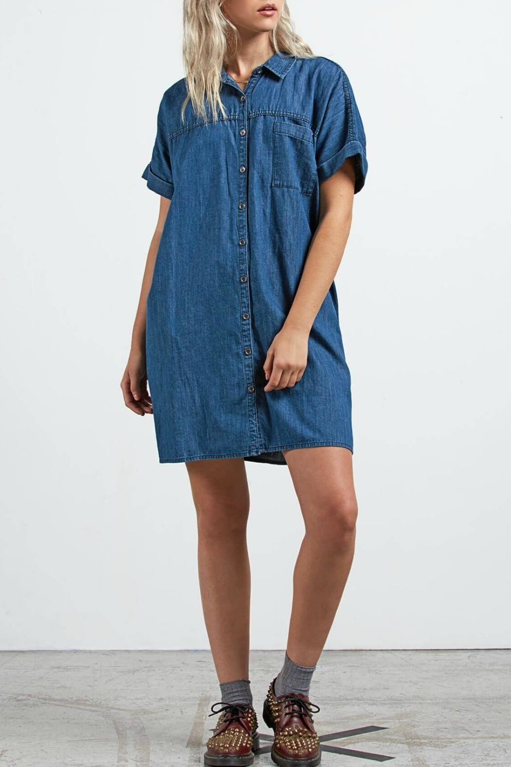 Volcom Yo Shortie Dress - Front Cropped Image