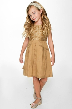 Shoptiques Product: Gold-On-Gold Embroidery Dress
