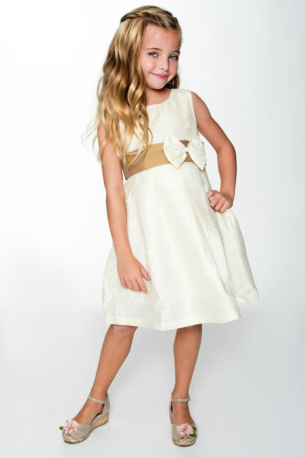 YO BABY Ivory Two-Tone Dress - Main Image