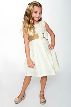 YO BABY Ivory Two-Tone Dress - Product List Image
