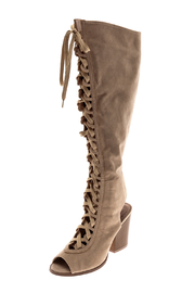 Yochi Open Toe Boots - Front cropped
