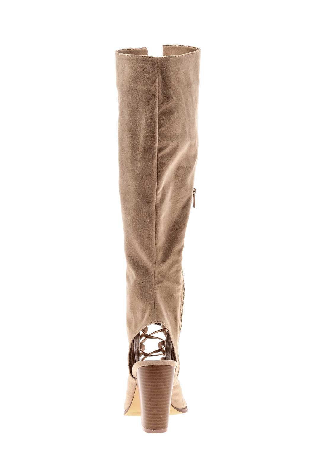 Yochi Open Toe Boots - Back Cropped Image