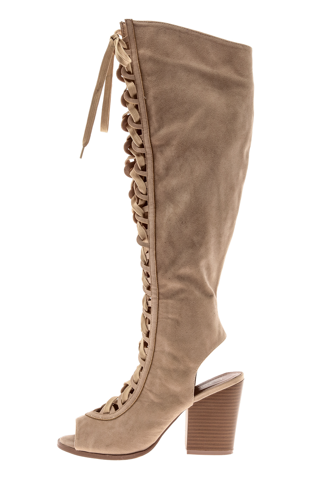 Yochi Open Toe Boots - Front Full Image