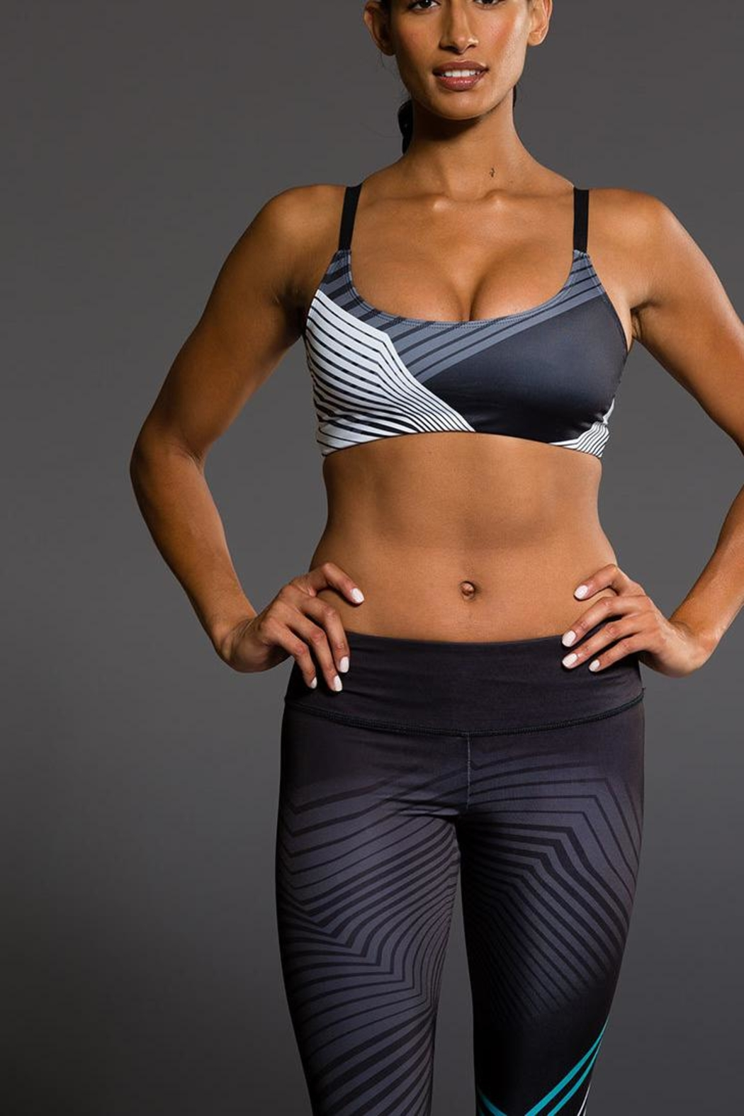 Onzie Yoga Graphic Bra - Front Cropped Image