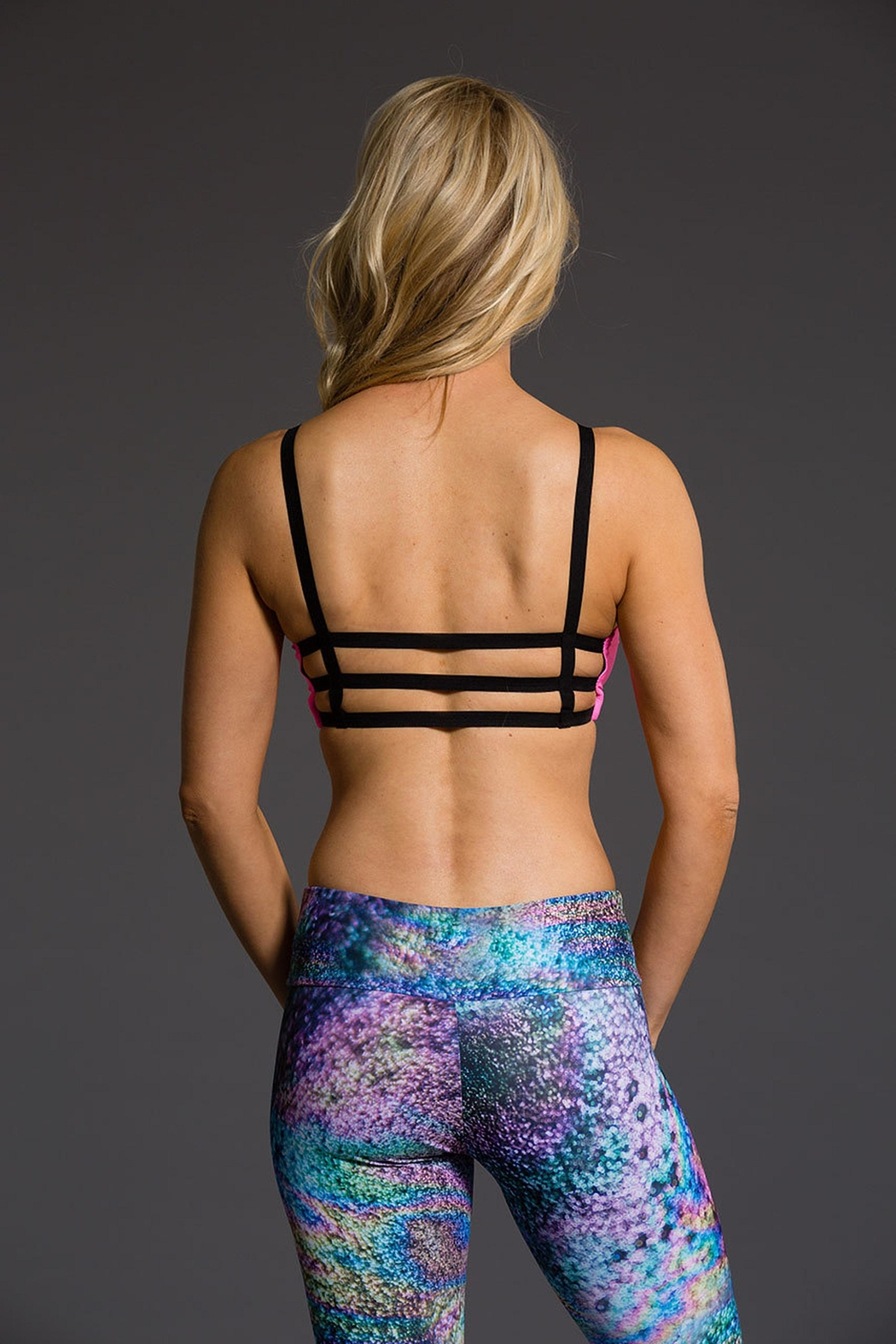 Onzie Yoga Graphic Bra - Back Cropped Image