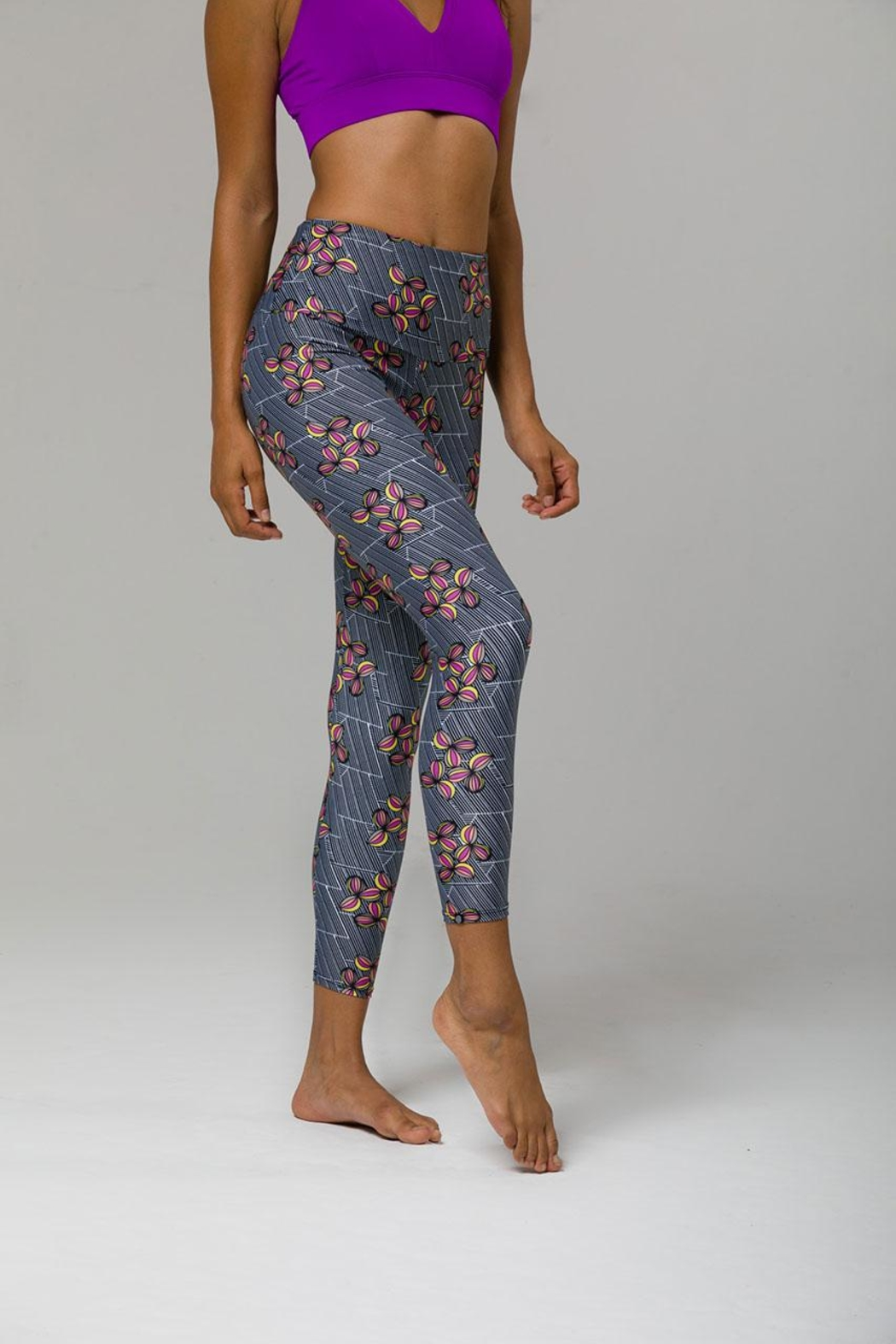 Onzie Yoga High Capris - Side Cropped Image