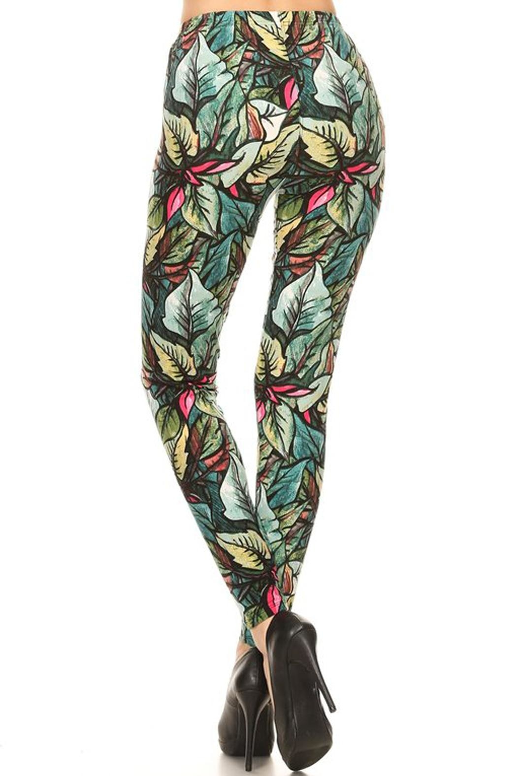 HGG Yoga Legging Palms - Side Cropped Image