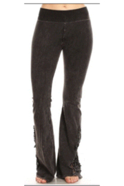 T Party Yoga Pants with Lace Inserts - Product Mini Image