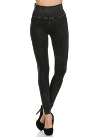 T-Party  Yoga skinny mineral wash - Front cropped