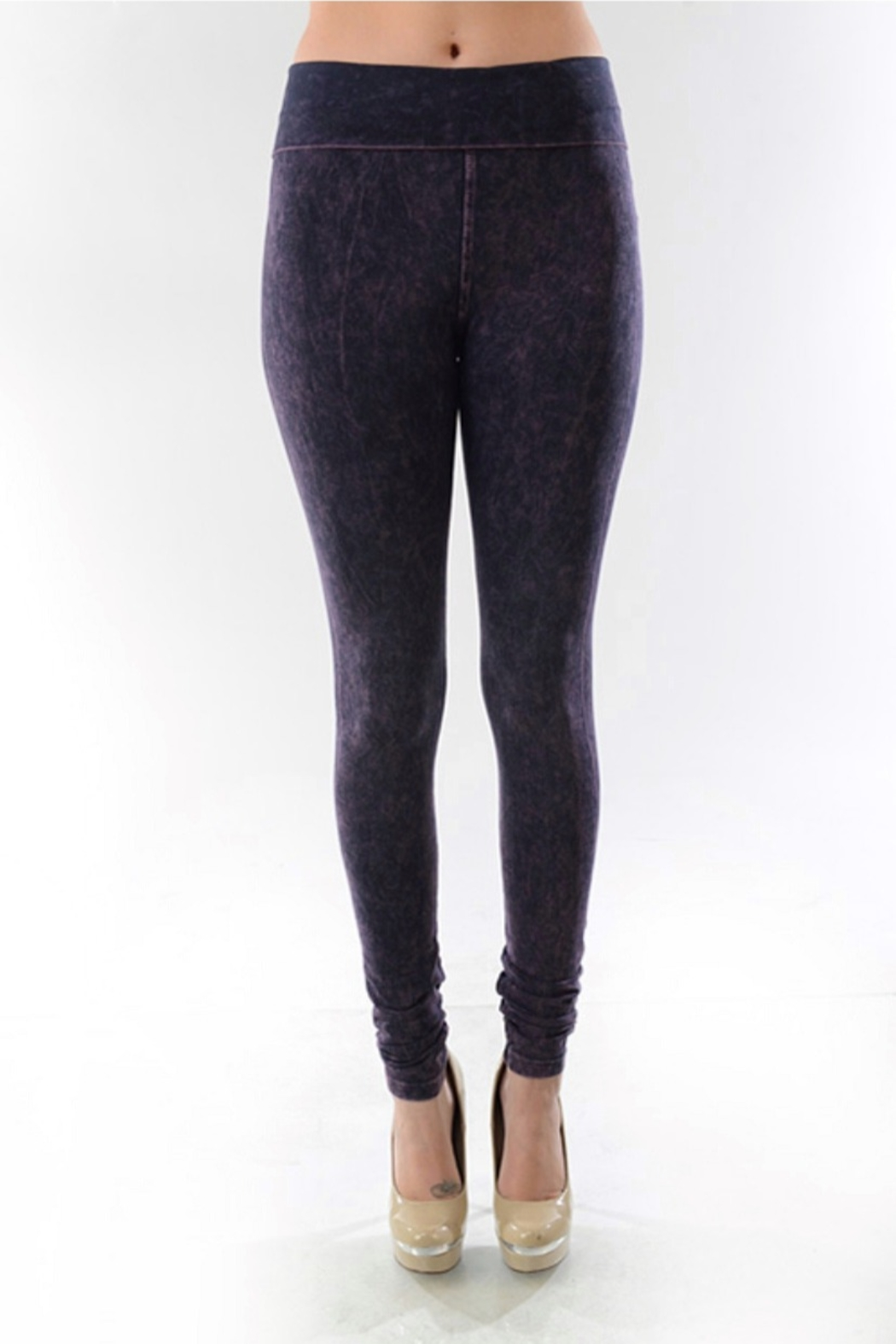 T-Party  Yoga skinny mineral wash - Front Cropped Image