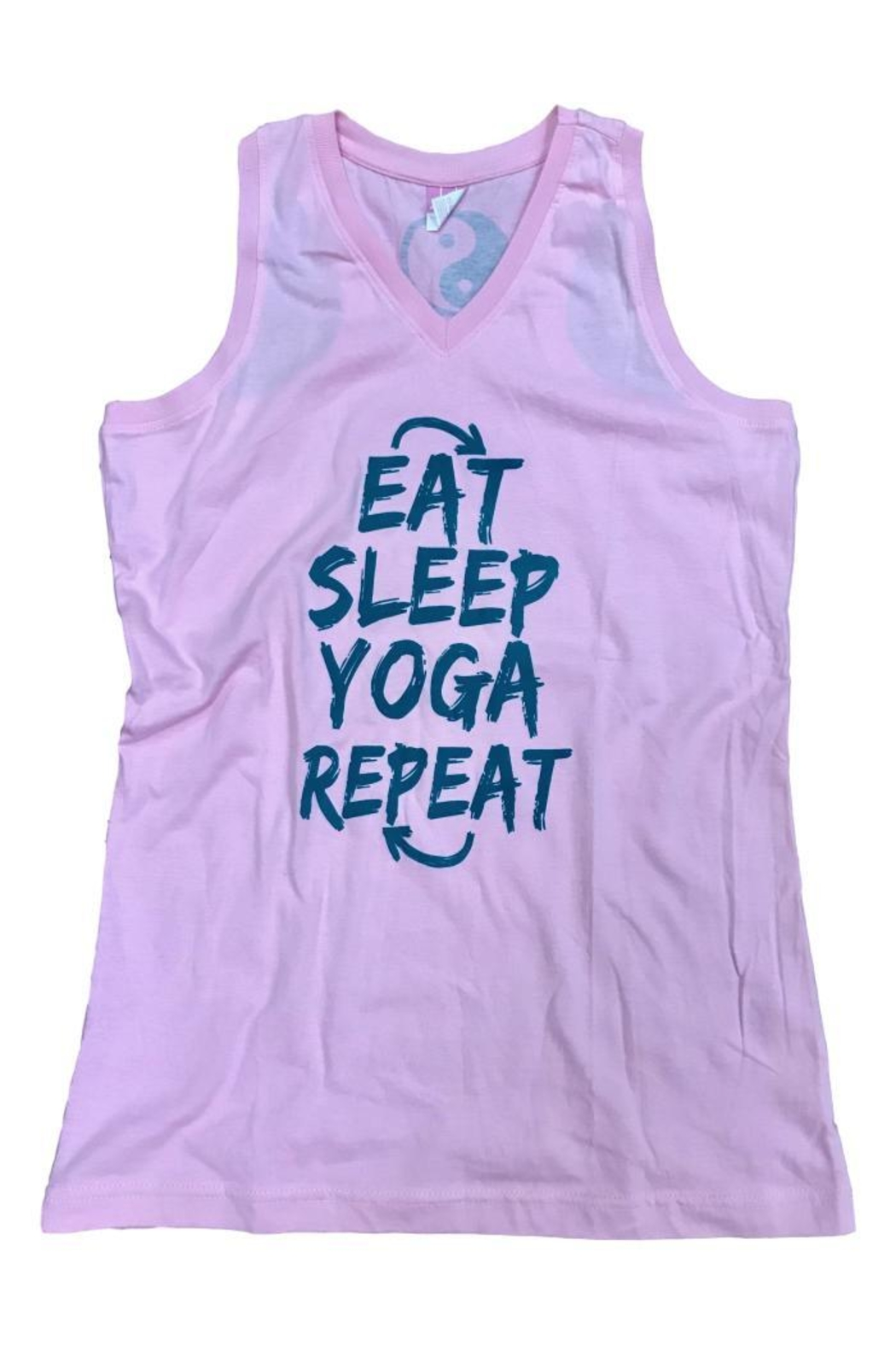 A Little Bit Hippy Yoga Tank - Front Cropped Image
