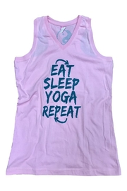 A Little Bit Hippy Yoga Tank - Front cropped