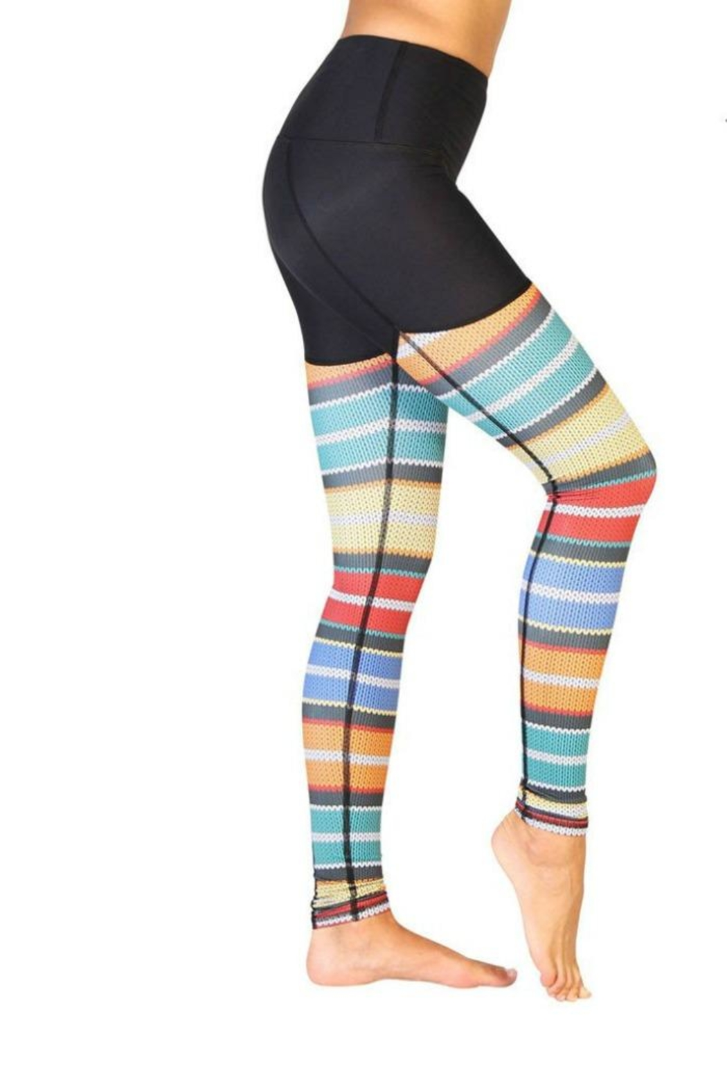 Yoga Democracy Cable Knit Leggings - Front Full Image