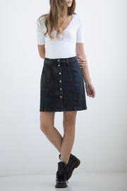Yoga Jeans Button-Up Denim Skirt - Product Mini Image