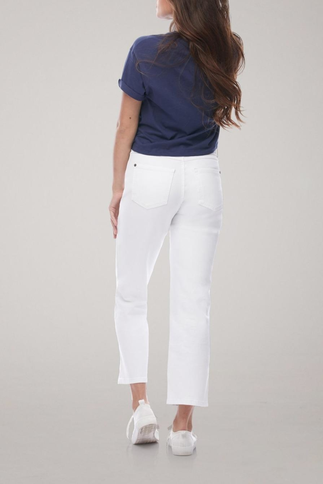 Yoga Jeans Cropped Straight Leg Jean - Side Cropped Image