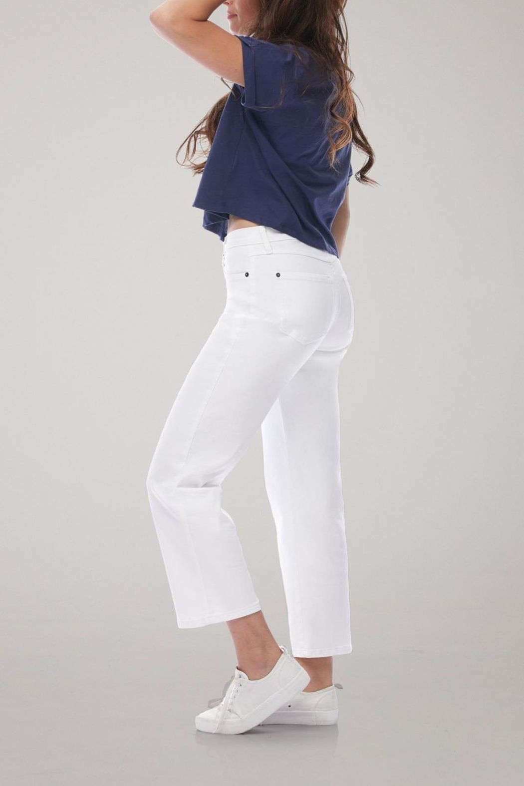 Yoga Jeans Cropped Straight Leg Jean - Front Full Image