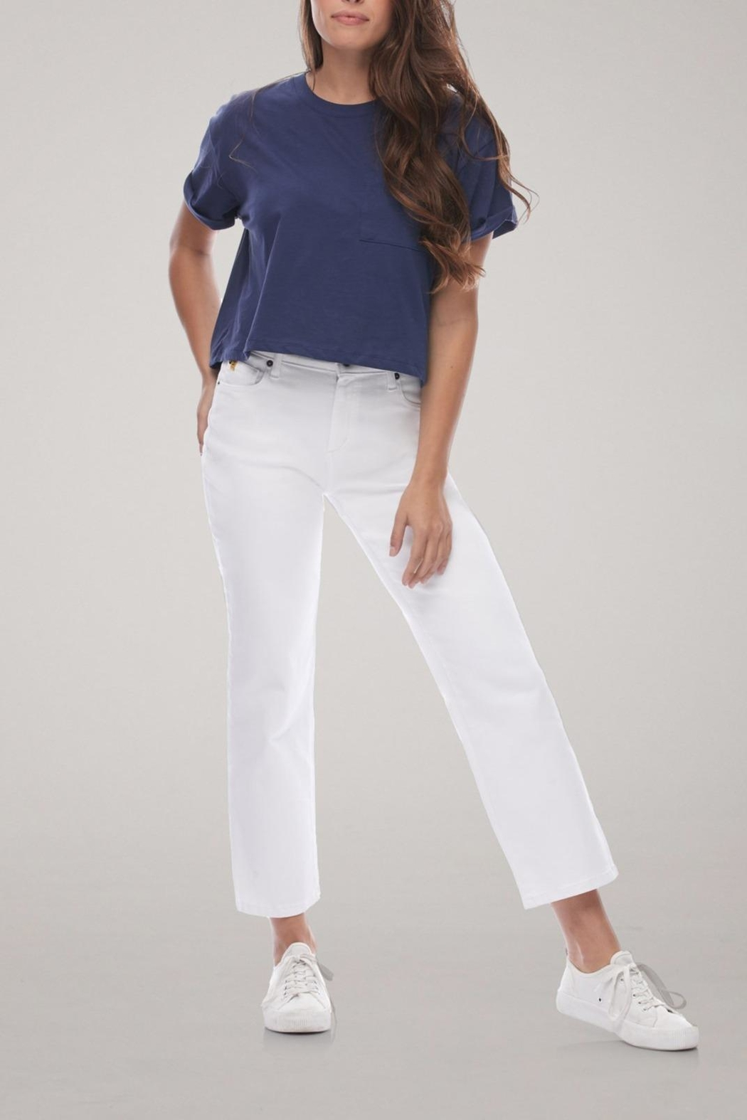 Yoga Jeans Cropped Straight Leg Jean - Front Cropped Image