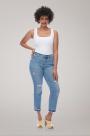 Yoga Jeans High-Rise Straight Buttonfly - Front cropped