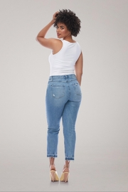 Yoga Jeans High-Rise Straight Buttonfly - Side cropped