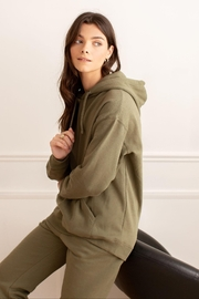 Yoga Jeans Oversized Boyfriend Hoodie - Front cropped