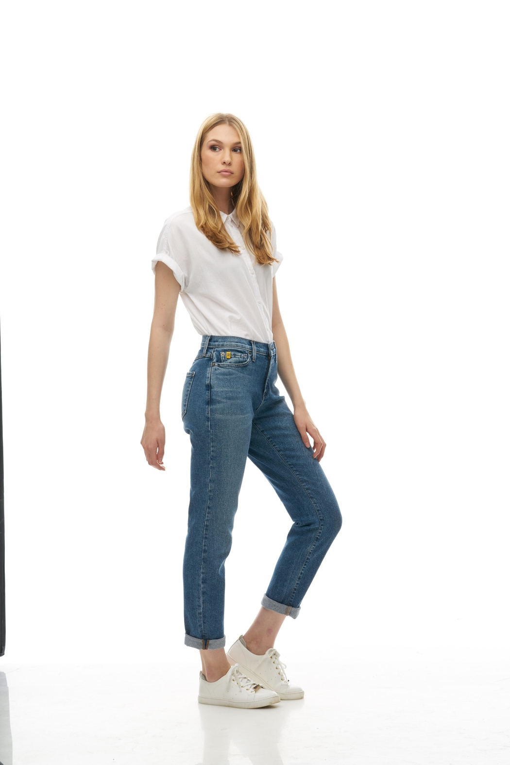 Yoga Jeans Straight Relaxed Jean - Side Cropped Image