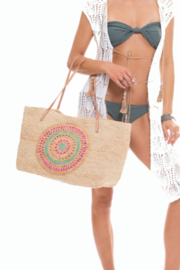 Muche et Muchette Yogi Straw Bag w/Crochet Design - Product Mini Image