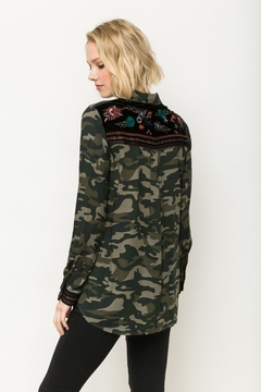 Mystree Yoke Camo Detailed Button-Down - Product List Image