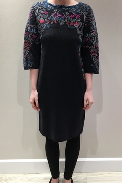 Shoptiques Product: Yoke-Patterned Knit Dress