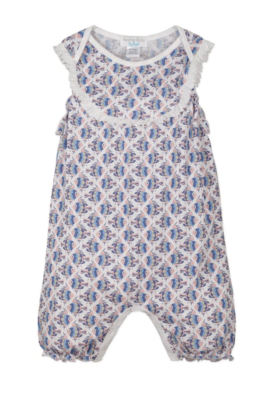 Feather Baby Yoke Romper - Front Cropped Image