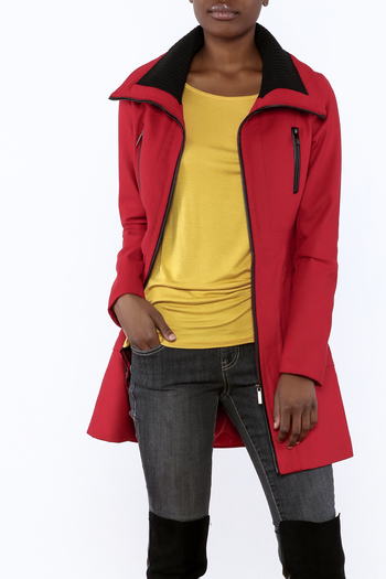 Yoki Red Car Coat from Georgia by Sweet Cheeks — Shoptiques