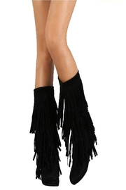 Yoki Mudd-55 Women's Fringe Boots Black - Product Mini Image