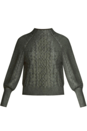 Veronica Beard Yola Metallic Foil Pullover Sweater - Product Mini Image