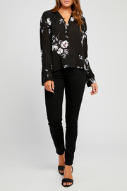 Gentle Fawn Yolanda Floral Half Button Down Blouse - Front cropped