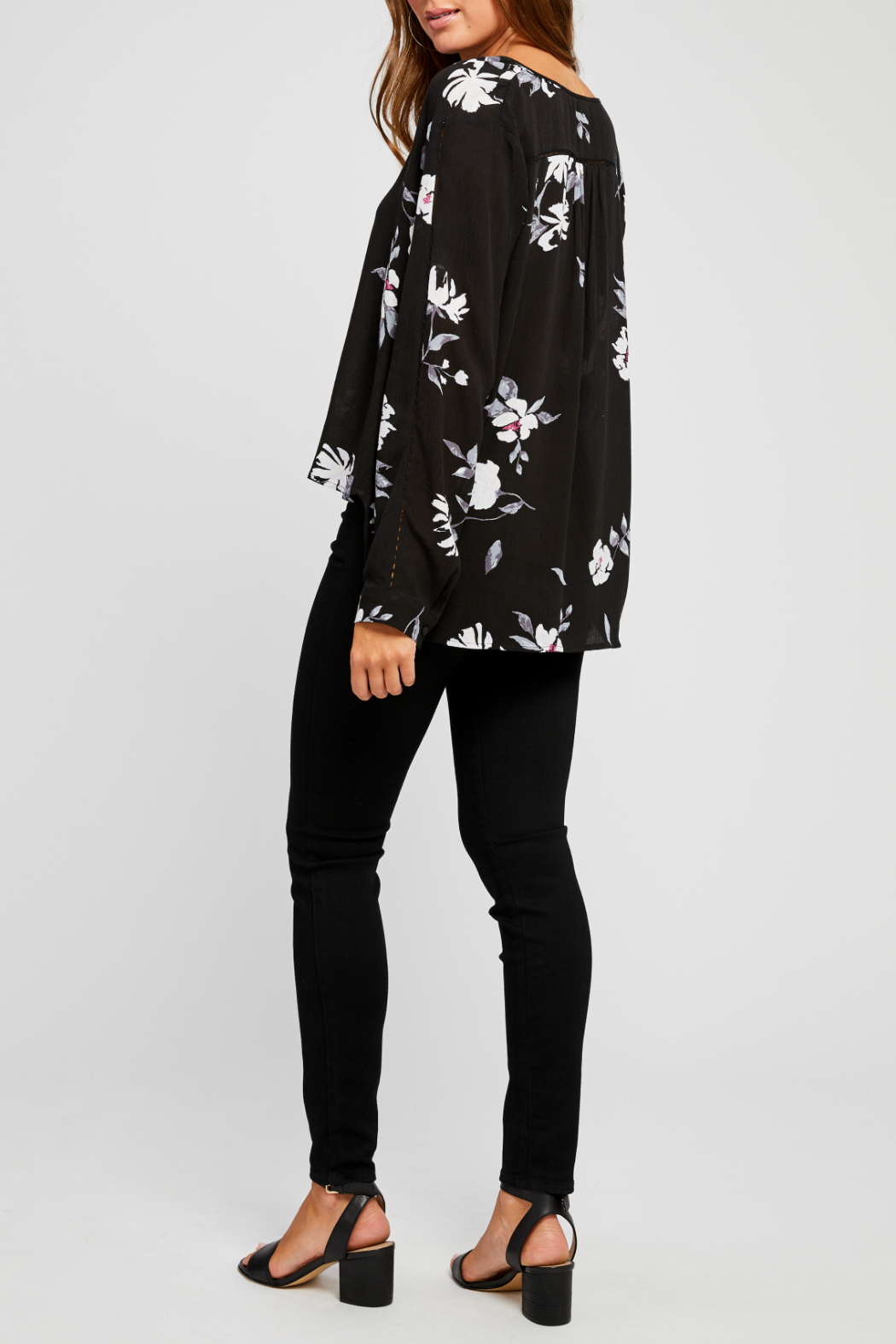 Gentle Fawn Yolanda Floral Half Button Down Blouse - Side Cropped Image
