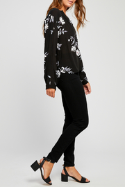 Gentle Fawn Yolanda Floral Half Button Down Blouse - Front full body