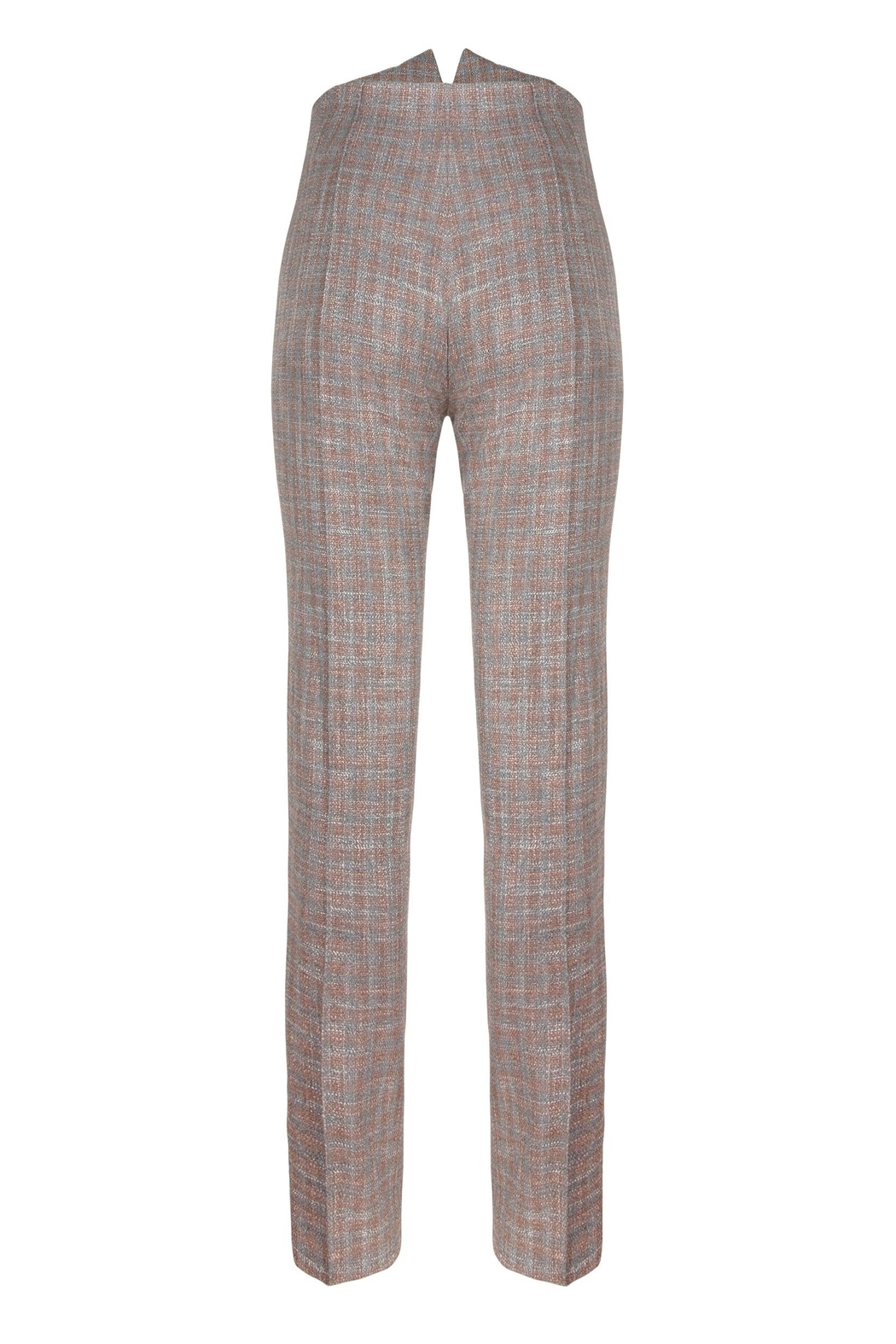 Yona New York Ari High Waisted Pant / Plaid - Side Cropped Image