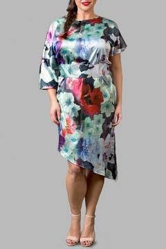 Love By Yona Asymmetrical Floral Blue Dress - Product List Image